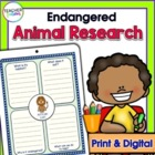 Guided Research Reports: Endangered Animals (Grades 1 - 3)