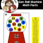 Gumball Machine Math Facts Game