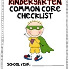 HALF Kindergarten Common Core LANGUAGE ARTS Checklist