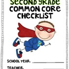 HALF Second Grade Common Core MATH Checklist