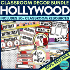 HOLLYWOOD Theme EDITABLE Classroom Essentials-34 Printable