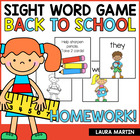 HOMEWORK! A School Sight Word Game