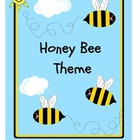 HONEY BEE THEME (folder cover, substitute cover, communica