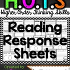 HOTS (Higher Order Thinking Skills) Reading Response Sheet