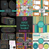 HUGE Seller's Toolkit Bundle #3! Digital Papers, Borders,