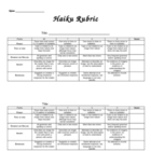 Haiku evaluation and scoring rubric