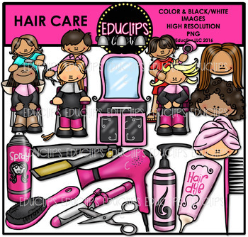 Hair Care Clip Art Bundle