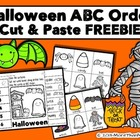 Halloween ABC Order Cut and Paste Printable---FREEBIE
