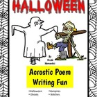 Halloween Acrostic Poem Writing Sheets
