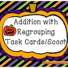 Halloween Addtion with Regrouping Task Cards/Scoot