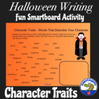 Halloween Character Traits Writing Activity for Smartboard