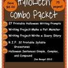 Halloween Combo Pack Writing, Reading, Language Resources: