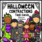 Halloween Common Core Contractions Task Cards  2.L.2.c