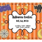 Halloween Cookies - Roll, Say, Write CVCe words (Writing T