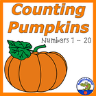 Halloween Counting Pumpkins Activity CARDS - Numbers 1 - 20