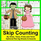 Halloween Counting and Skip Counting Math Centers