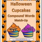 Halloween Cupcakes Compound Words Matching Activity