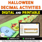 Halloween Decimal Task Card Centers - 5th Grade