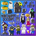 Halloween Doodles Digital Clip Art (BW and full-color PNG files)