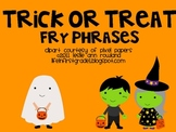 Halloween Fry Phrases Flash Cards