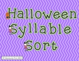 Halloween Fun Syllable Sort