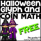 Halloween Glyph with coin math FREEBIE!