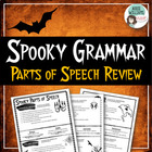 Halloween Grammar - Spooky Parts of Speech Review