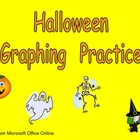 Halloween Graphing Practice for Kindergarten