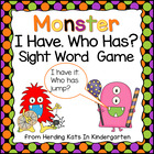 Halloween I have Who has? Pre Primer Dolch Sight Words Game