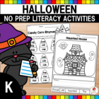 Halloween Kindergarten Language Arts Worksheets