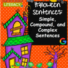 Halloween Language Printables for Teaching Simple, Complex