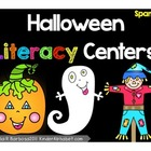 Halloween Literacy Centers: Spanish