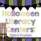 Halloween Literacy Centers! {Third Grade!} Common Core!