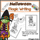"Halloween ""Magic"" Writing Center Activities"