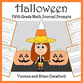 Halloween Mathbooking - Math Journal Prompts (5th grade) -