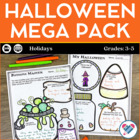 Halloween Mega Pack! Reading Comprehension, Writing and Ma
