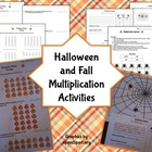 Halloween Multiplication Activities and Worksheets Aligned