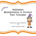 Halloween Multiplication & Division Fact Family Triangles
