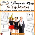 Halloween No Prep Printables - Save My Ink