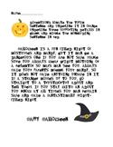 Halloween Paragraph Writing activity