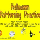 Halloween Pattern Independent Practice for Kindergarten-1st Grade