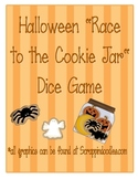 Halloween Race to the Cookie Jar Dice Game for Math Center