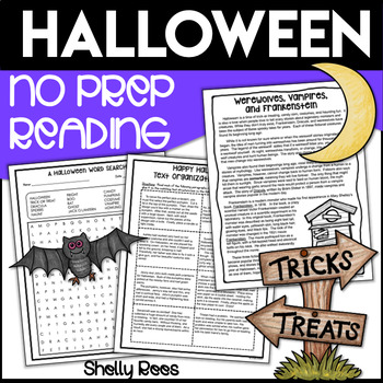Halloween Reading Packet - Informational Text, Homophones, Poetry