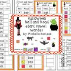 Halloween Roll and Read Short Vowel Words