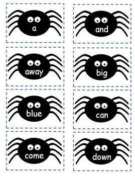 Halloween Sight Word Spider Game