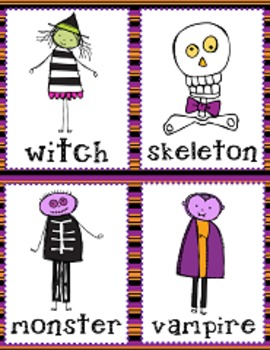Halloween Syllable Sort (1, 2 and 3 Syllables)