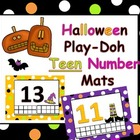 Halloween Teen Numbers Play-doh Mats