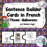 Halloween Themed Silly Sentence Builder Cards in French