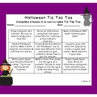 Halloween Tic Tac Toe Choice Board