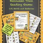 Halloween Train Reading Game:  CVC Words and Sentences